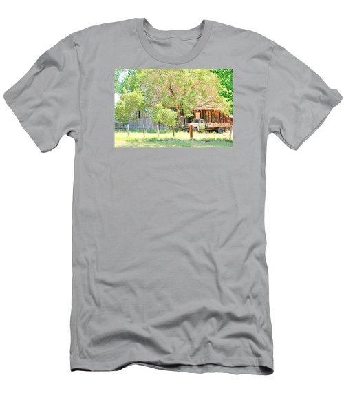 Men's T-Shirt (Slim Fit) featuring the photograph Farm Living by Marilyn Diaz