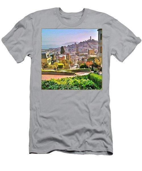 Favorite Places Lombard Street San Francisco California Men's T-Shirt (Athletic Fit)
