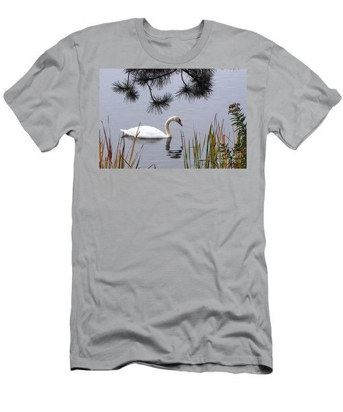 Feathered Friend Along The Shoreline Men's T-Shirt (Slim Fit) by Cedric Hampton