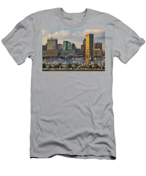 Federal Hill View To The Baltimore Skyline Men's T-Shirt (Athletic Fit)