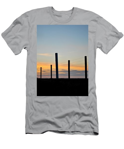 Fence Posts At Sunset Men's T-Shirt (Athletic Fit)