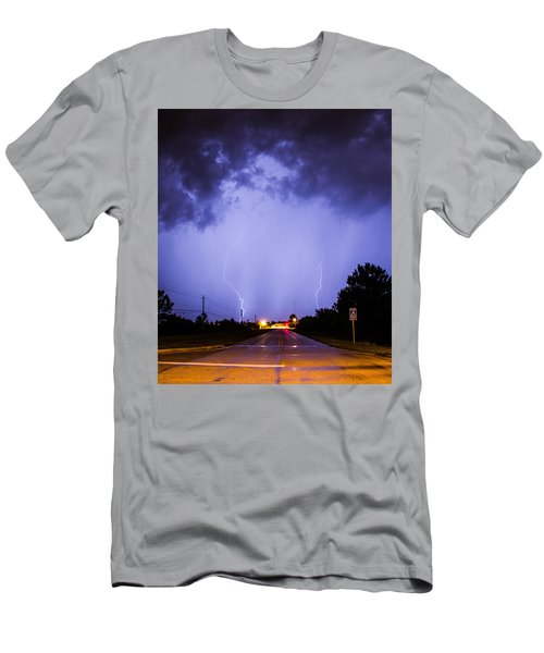 Men's T-Shirt (Athletic Fit) featuring the photograph Field Goal by Tyson Kinnison