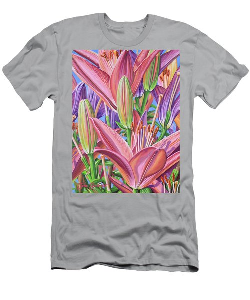 Field Of Lilies Men's T-Shirt (Athletic Fit)