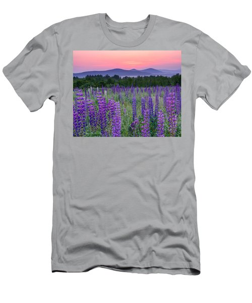 Field Of Purple Men's T-Shirt (Athletic Fit)