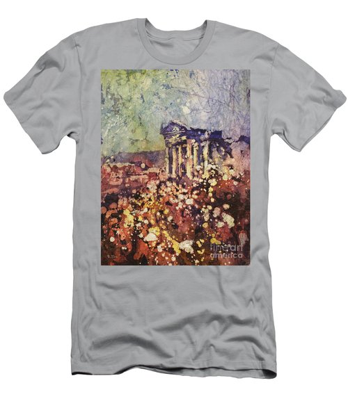 Fields Of Flower- And Roman Temple Men's T-Shirt (Athletic Fit)