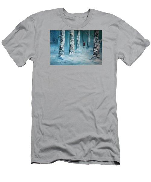 First Trodden Snows Men's T-Shirt (Slim Fit) by Jean Walker