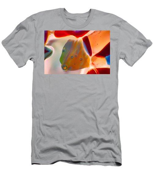 Fish Blowing Bubbles Men's T-Shirt (Athletic Fit)