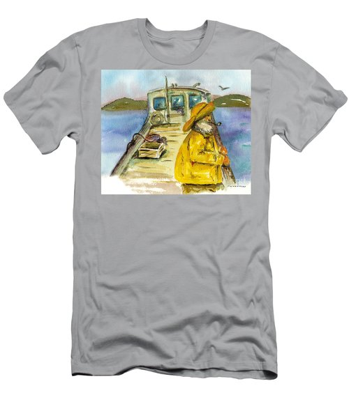 Fisherman Half Moon Bay Men's T-Shirt (Athletic Fit)