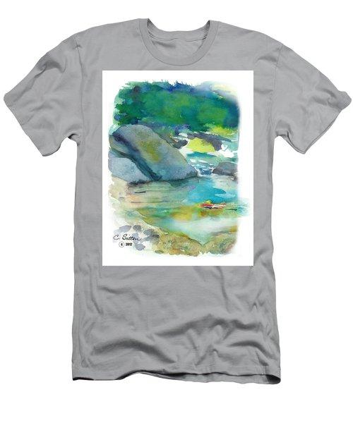 Fishin' Hole Men's T-Shirt (Slim Fit) by C Sitton
