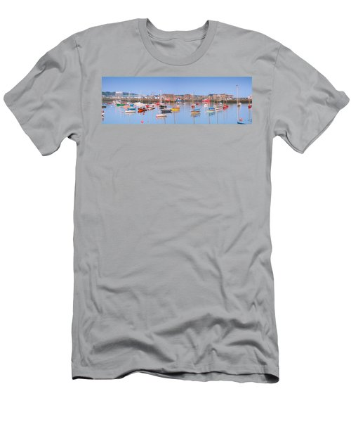 Fishing Boats In The Howth Marina Men's T-Shirt (Athletic Fit)
