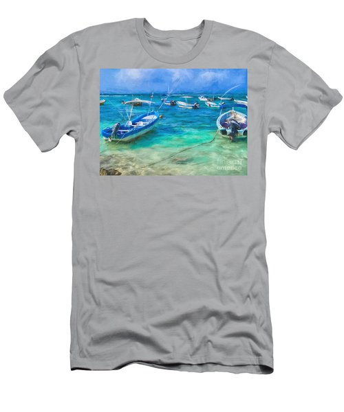 Fishing Boats Men's T-Shirt (Athletic Fit)