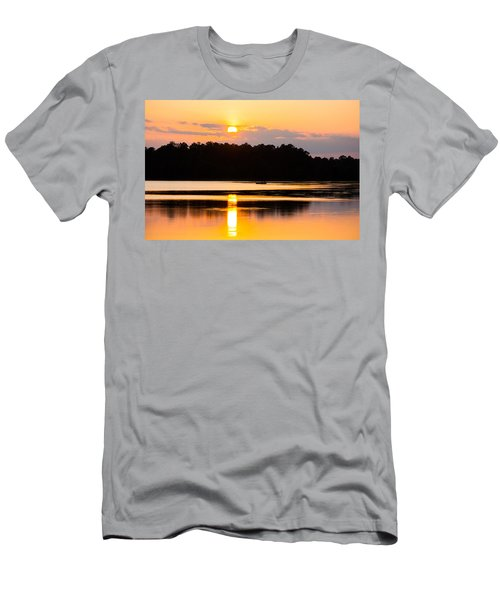 Fishing On Golden Waters Men's T-Shirt (Athletic Fit)