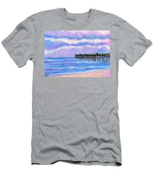 Flagler Beach Pier Men's T-Shirt (Athletic Fit)