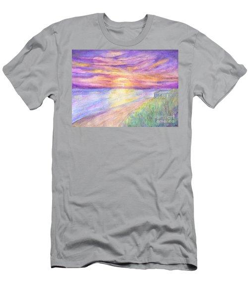 Flagler Beach Sunrise Men's T-Shirt (Athletic Fit)