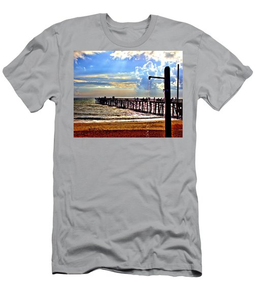 Men's T-Shirt (Athletic Fit) featuring the photograph Flagler Pier Heaven by Tyson Kinnison