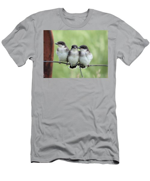 Fledged Siblings Men's T-Shirt (Slim Fit) by Bonfire Photography