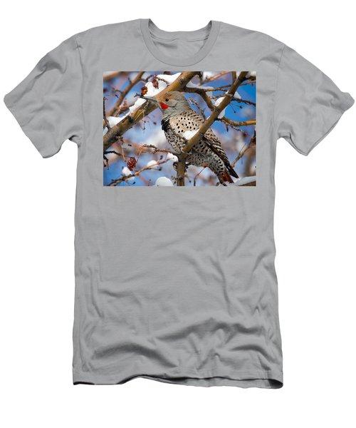 Flicker In Snow Men's T-Shirt (Slim Fit) by Nadja Rider