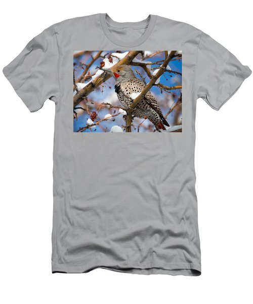 Flicker In Snow Men's T-Shirt (Athletic Fit)