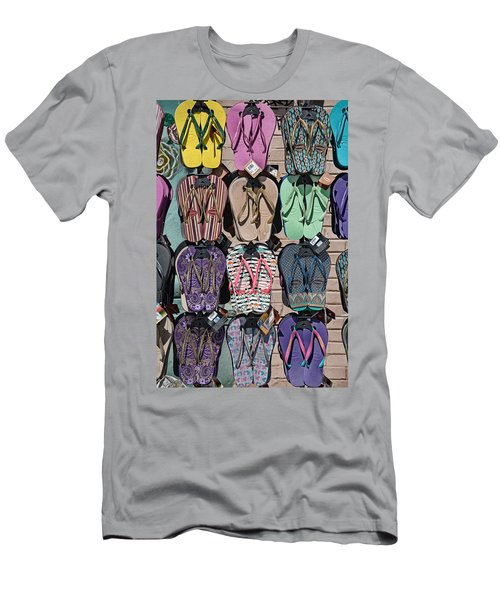 Flip Flops Men's T-Shirt (Slim Fit) by Peter Tellone