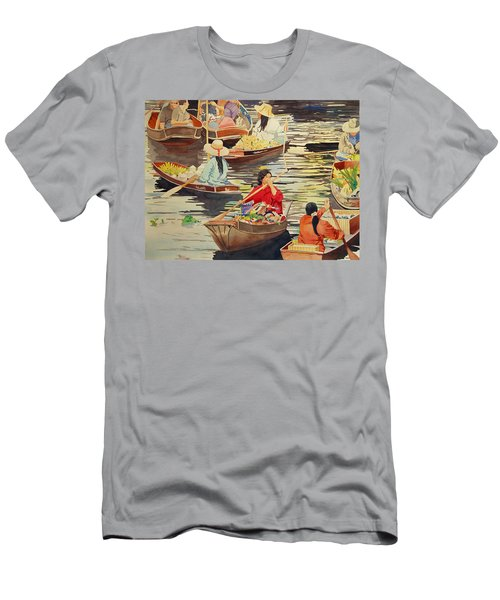 Floating Market Men's T-Shirt (Athletic Fit)