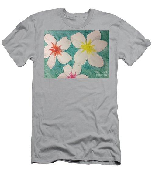Floating Plumeria Men's T-Shirt (Athletic Fit)