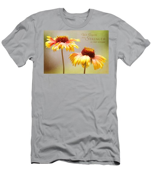 Floral Sunshine With Message Men's T-Shirt (Athletic Fit)
