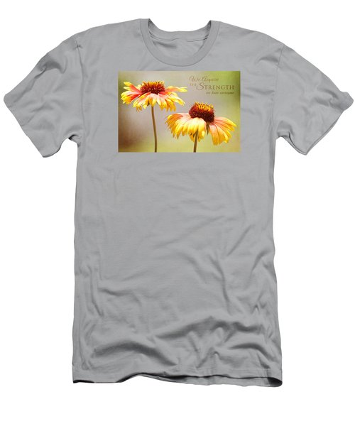 Floral Sunshine With Message Men's T-Shirt (Athletic Fit)