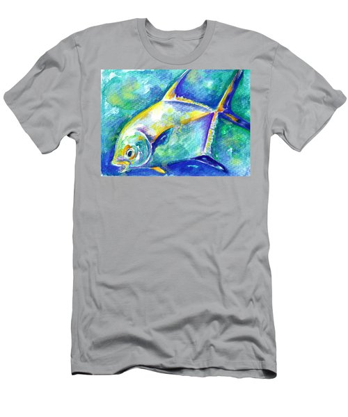 Men's T-Shirt (Athletic Fit) featuring the painting Florida Keys Permit by Ashley Kujan