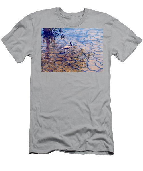 Florida Wetlands Wading Heron Men's T-Shirt (Slim Fit) by David Mckinney