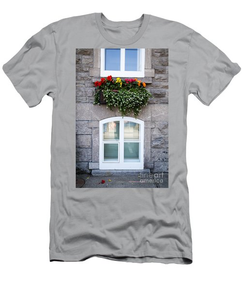 Flower Box Old Quebec City Men's T-Shirt (Athletic Fit)