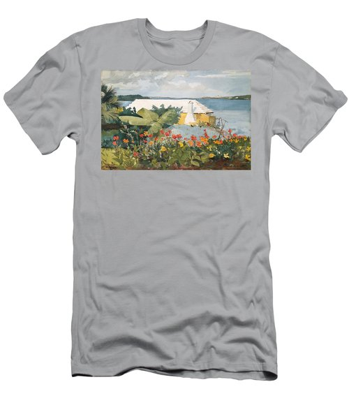 Flower Garden And Bungalow Men's T-Shirt (Athletic Fit)