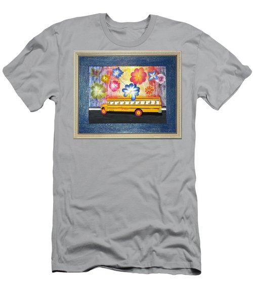 Flower Power Men's T-Shirt (Slim Fit) by Ron Davidson