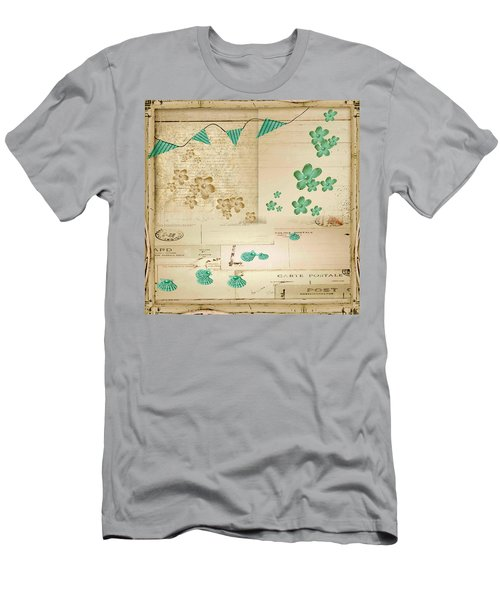 Flowers And Bunting Men's T-Shirt (Athletic Fit)