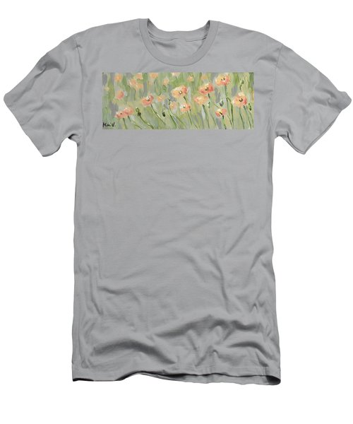 Men's T-Shirt (Athletic Fit) featuring the painting California Poppies by Maria Langgle