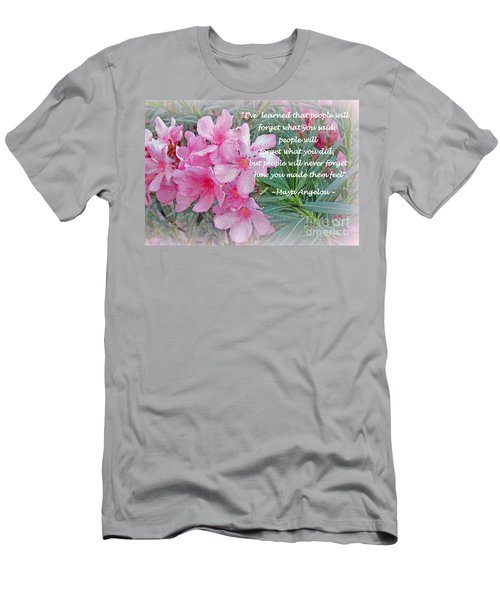 Flowers With Maya Angelou Verse Men's T-Shirt (Slim Fit) by Kay Novy