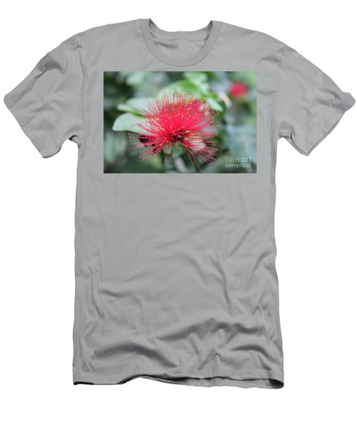 Men's T-Shirt (Slim Fit) featuring the photograph Fluffy Pink Flower by Sergey Lukashin