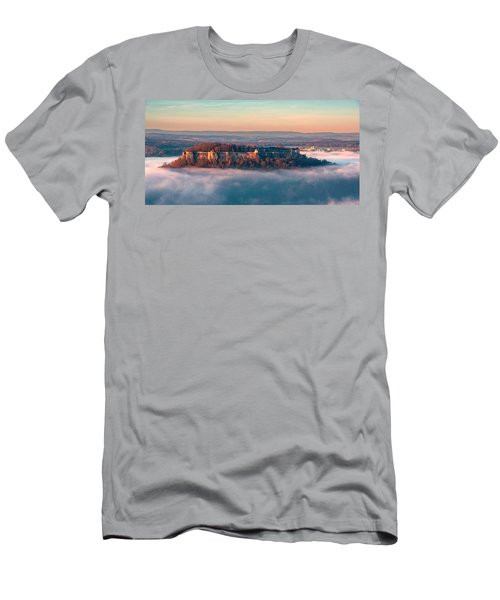 Fog Surrounding The Fortress Koenigstein Men's T-Shirt (Athletic Fit)