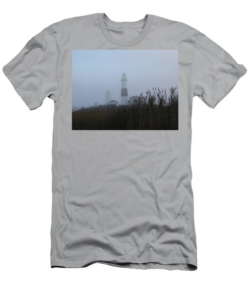 Foggy Montauk Lighthouse Men's T-Shirt (Athletic Fit)