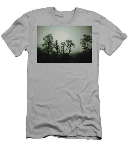 Men's T-Shirt (Slim Fit) featuring the photograph Foggy Mountain Morning At The Meadows Of Dan by John Haldane