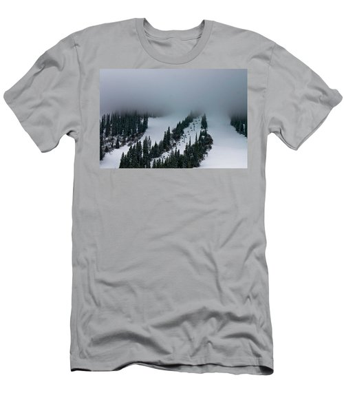 Foggy Ski Resort Men's T-Shirt (Athletic Fit)