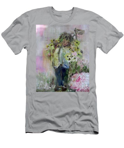 Men's T-Shirt (Athletic Fit) featuring the painting For My Mother by Laurie L