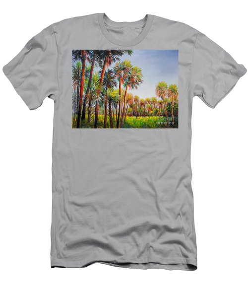 Forest Of Palms Men's T-Shirt (Slim Fit) by Lou Ann Bagnall
