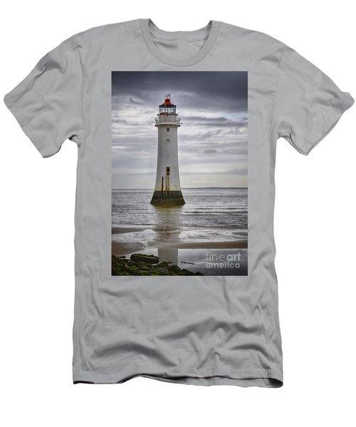 Fort Perch Lighthouse Men's T-Shirt (Slim Fit) by Spikey Mouse Photography