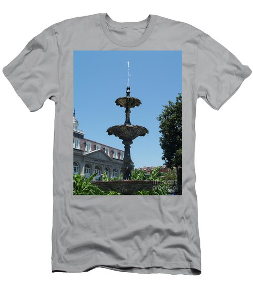 Men's T-Shirt (Slim Fit) featuring the painting Fountain  by Robin Maria Pedrero