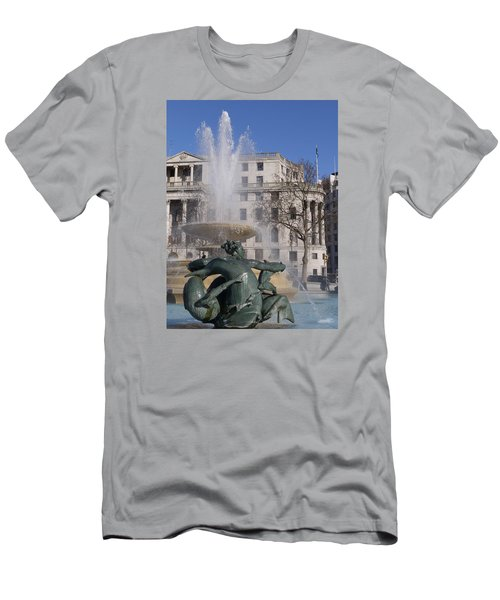 Fountains In Trafalgar Square Men's T-Shirt (Athletic Fit)