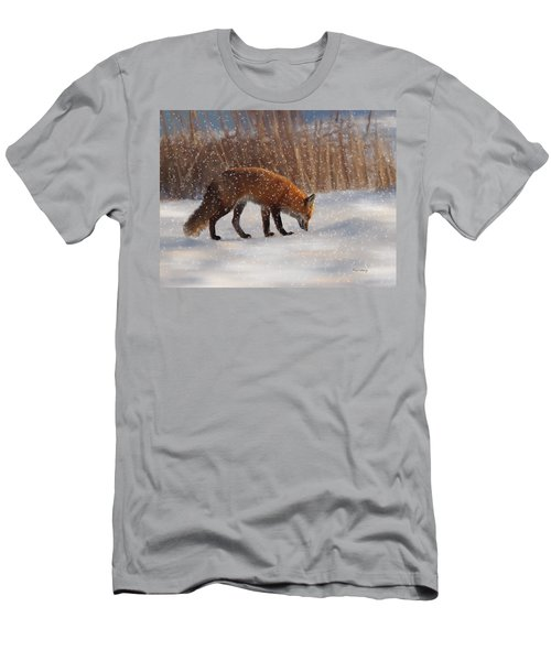 Fox In The Snow Men's T-Shirt (Athletic Fit)