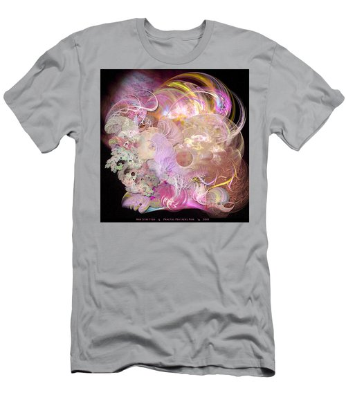 Fractal Feathers Pink Men's T-Shirt (Athletic Fit)