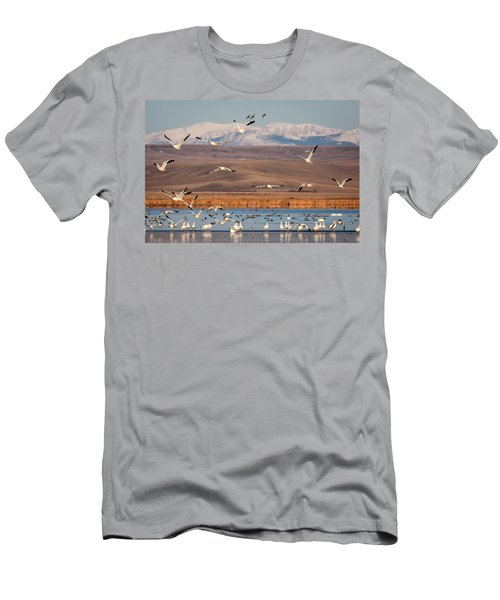 Men's T-Shirt (Slim Fit) featuring the photograph Freeze Out Lake Morning by Jack Bell