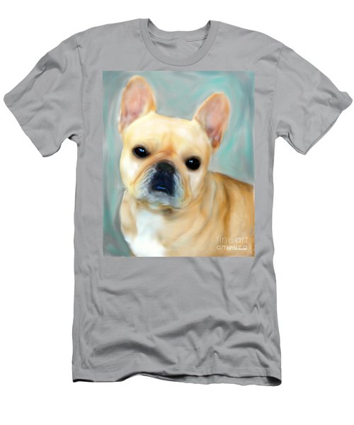 Men's T-Shirt (Slim Fit) featuring the painting French Bulldog Mystique D'or by Barbara Chichester