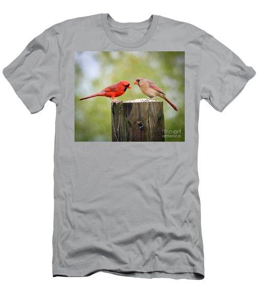 Friends In The Rain  Men's T-Shirt (Slim Fit) by Kerri Farley